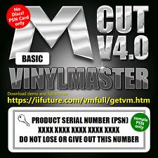 VinylMaster CUT PSN+LINK Basic Sign Making Software for Vinyl Cutters - NO DISCS