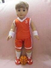Red Basketball Set fits American Boy Doll 18 Inch Clothes Seller lsful