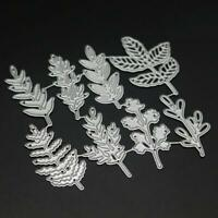 8 X Leaf Leaves For Flowers Metal Cutting Dies Embossing Stencil Card Craft Die