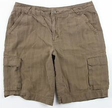 MINT Patagonia Organic Cotton Cargo Shorts MENS 34 Brown Plaid Hiking Camp