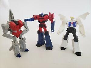 "lot of 3  transformers 4.5"" toys for kids optimus prime, starscream"