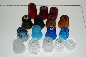 Vintage Glass Peg Wall Votive Candle Holder-Red-Blue-Clear-Amber-Green-Frosted
