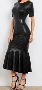 Kleid Abendkleid wetlook Lack Optik Meerjungfrau stretch 2 xl-4 xl neu