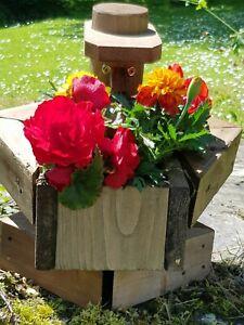 sitting  chunky's flowerpot men handmade garden figure planter