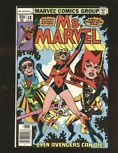 Ms. Marvel # 18 - 1st full Mystique Fine/VF Cond.