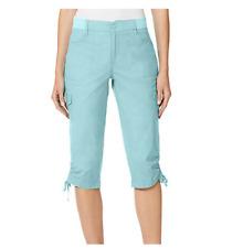 Gloria Vanderbilt Women's Knit Waist Capri Pants,Aqua Sky, Size: 10