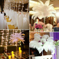 30-35cm Large Ostrich Feathers Plume Trim Costume Birthday Wedding Party Decors