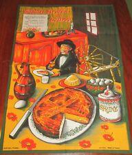 "New listing  00004000 Lovely Vintage J. Franco Tea Towel Recipes "" Gateau Breton au Beurre"" France"