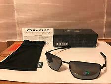 NEW Oakley POLARIZED Square Wire Matte Black / Black Iridium Polarized OO4075-05