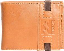 2017 Billabong Locked Bi Fold Wallet Tan C5wm07