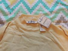 Men's Vintage Alan Stuart Merino Wool Blend Sweater Mock Turtle XXL NWT Yellow