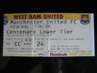 WEST HAM UNITED v MANCHESTER UNITED 17/12/2006  USED TICKET STUB