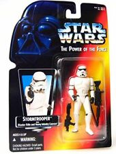 Star Wars -1995 POTF Stormtrooper with Blaster Rifle & Heavy Infantry Cannon Red