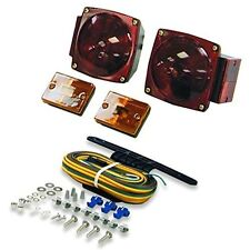 12V LED Trailer Truck Tail Turn Stop Boat Light Kit Side Marker Wire Harness NIB