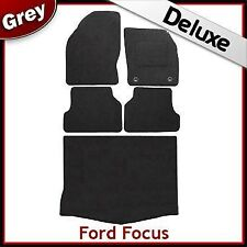 Ford Focus Mk2 5-Dr Hatchback 2004-2011 Tailored LUX 1300g Car & Boot Mats GREY