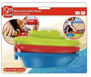 NEW Hape Beach & Bath Boats For Water Tub & Sand E4091 Linked