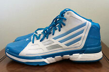 Adidas Mens Size 19 Teal & White AS SMU adiZero Ghost Basketball Shoes Athletic
