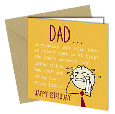 #568 Birthday Greeting Card Comedy Rude Funny Humour Cheeky Sarcastic 6x6 Inch