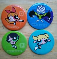 Vintage Original Powerpuff Girls Novelty Buttons buttercup bubbles blossom mojo