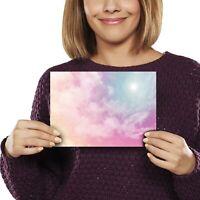 A5 - Beautiful Pink Clouds Fluffy Girls Sky Print 21x14.8cm 280gsm #8727