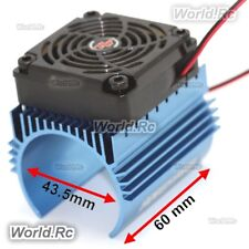 Hobbywing 5010 Cooling Fan and 4465 Heat Sink Combo C4 for 1:8 RC Model Blue