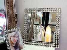 Art Deco Carré Strass Cristal Cadre Miroir mural en verre 50X50cm design moderne