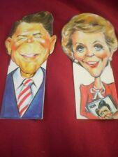 Ronald & Nancy Reagan Book Bites by Flair Design hard plastic bookmarks