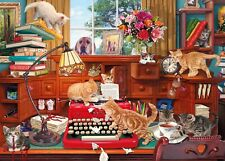 Gibsons - 1000 PIECE JIGSAW PUZZLE - Writer's Block Cat Cats