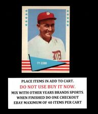 1961 FLEER BASEBALL ALL TIME GREATS - SELECT FROM OUR LIST