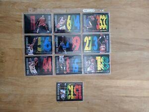 1994-95 HOOPS BIG NUMBERS Lot (10 of 12) Hardaway, Barkley, Pippen, Olajuwon