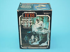 STAR WARS ROTJ AT-ST SCOUT WALKER 100% COMPLETE IN EURO BOX CLIPPER MIRO FRANCE