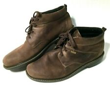 ECCO Gore-tex Turn Ankle Boot Lace Up Leather Chukka Men's 46 (12) Shoes Brown