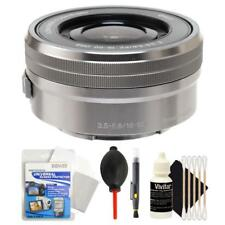Sony SELP1650 16-50mm F/3.5-5.6 PZ OSS Lens Silver with Cleaning Kit