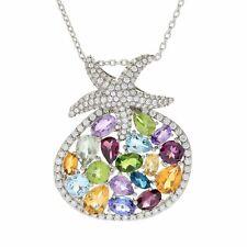 "Victoria Wieck Collection 9.15ctw Multi Gemstone Starfish Pendant w/ 18"" Chain"
