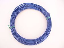 Blue Vinyl Coated Wire Rope Cable,1/16 - 3/32, 7x7, 50 ft Coil