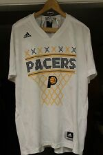 NICE! Indiana Pacers NBA Licensed Adidas Brand V-Neck White Shirt Men's L/XL