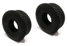 (2) 15x6x6 15x6.00x6 15x600x6 TURF TIRES 4 Ply Tubeless Lawn Mower Tractor Rider