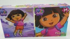 """Lot of 2 Jigsaw Puzzle """"Dora the Explorer"""" 24 pcs Nickelodeon 11x15"""" Cardinal"""