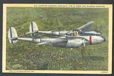 Ca 1942 PPC* P-38 LOCKHEED LIGHTING INTERCEPTOR MINT