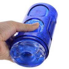 Crystal Masturbator Cup,Strong Suction Pocket Vagina Pussy Toys,Men Aircraft Cup