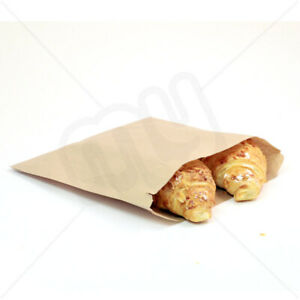7 x 7 Brown Kraft Strong Paper Food Bags Sandwiches Groceries Sweet Strung x 100
