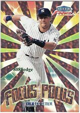 2000 FLEER FOCUS POCUS: DEREK JETER #9 OF 10 FP YANKEES FOIL INSERT MVP/ALL-STAR
