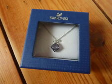 GENUINE SWAROVSKI TE MONA TANZANITE PENDANT NECKLACE NIB