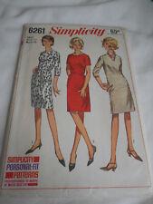 Vintage 1960s Simplicity Size 14 6261 dress cut pattern