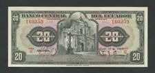 ECUADOR - 20 sucres  1957  P102  Uncirculated  ( World Paper Money )