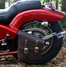 Borsa laterale telaio rigida Marrone { softail wildstar daytona shadow fatboy }