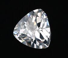 6X6mm AAAAA White Sapphire Gems 1.12ct Trillion Faceted Cut VVS Loose Gemstone