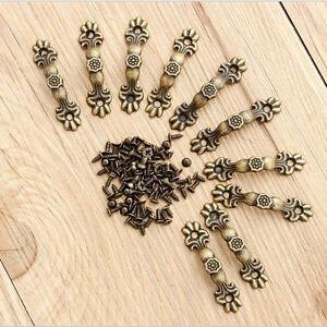 10pcs Antique Brass Decorative Mini Jewelry Box Drawer Cabinet Handle Pull Knob