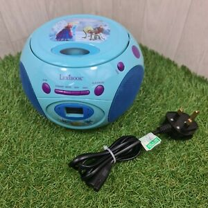 LexiBook RCD102FZ Disney Frozen Princess CD FM Radio Player - Anna Elsa Boombox