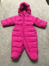 Ralph Lauren Infant Girl Down Hooded Snowsuit Bunting 3 Month Pink
